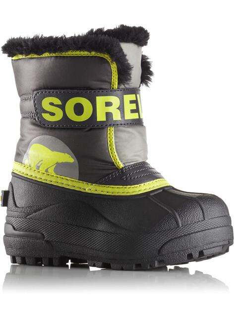 Sorel Toddler's Snow Commander Boots Dark Grey/Warning Yellow